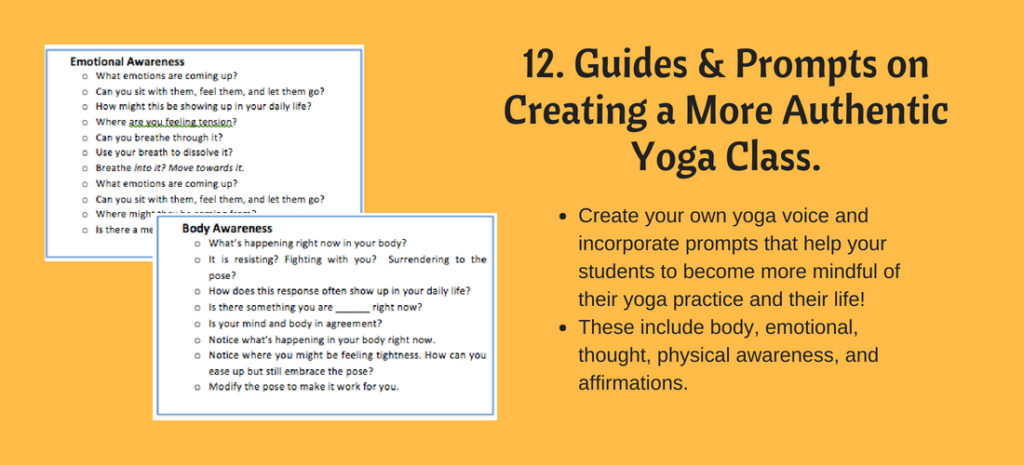 Creating mindful awareness in yoga class