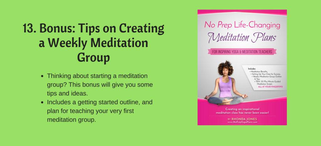 Bonus on creating a yoga meditation group