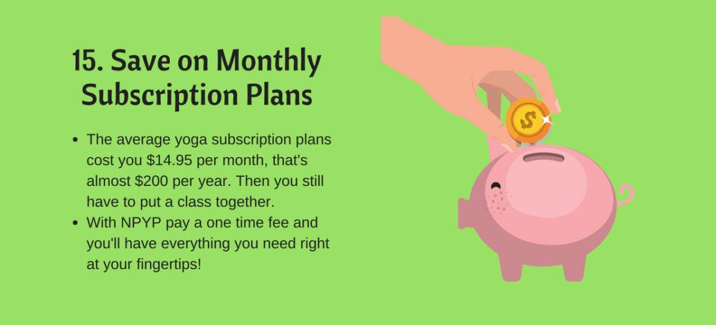 save money on yoga plans