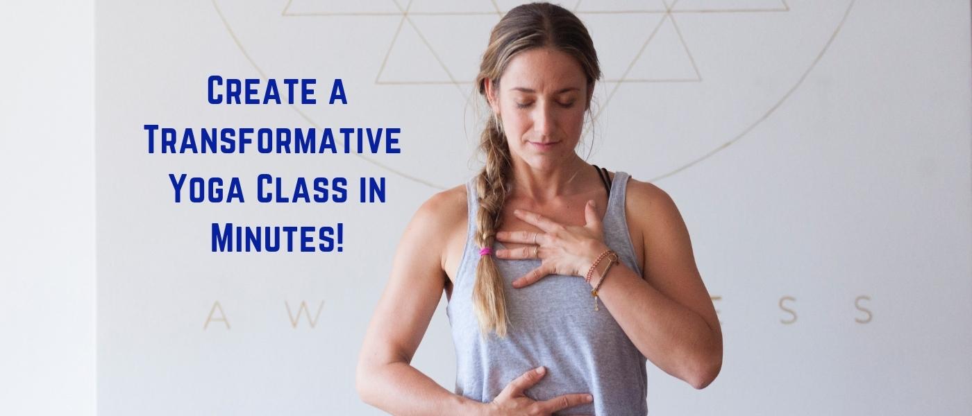 yoga class lesson plans - no prep yoga plans