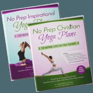Both Versions of No Prep Yoga Plans- Inspirational and Faith-Based Ebooks
