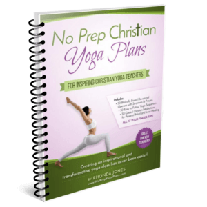 No Prep Yoga Plans Studio (Christian Faith-Based) Spiral Bound