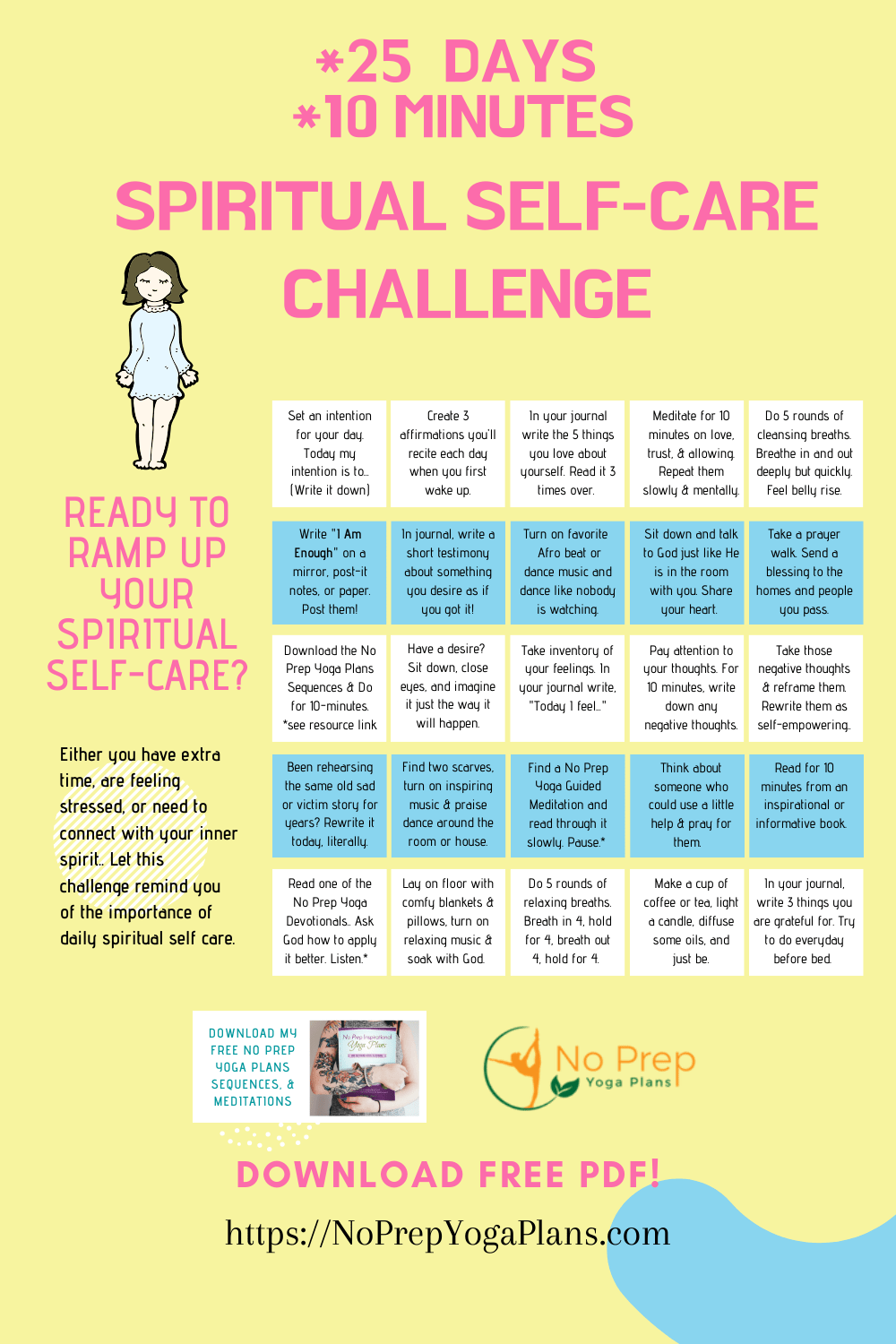 25 Day Spiritual Self Care Challenge Free PDF