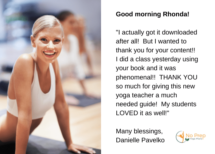 no prep yoga testimonial