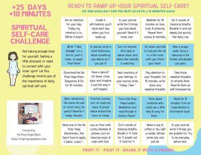 25 Day yoga spiritual self-care revised
